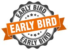 Early bird stamp Royalty Free Stock Images