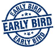 Early bird stamp Stock Image