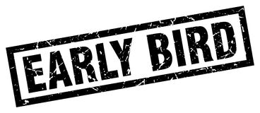 Early bird stamp Royalty Free Stock Photo