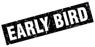 Early bird stamp. Early bird grunge stamp on white background Stock Images