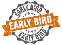 Early bird stamp. Early bird grunge stamp on white background Royalty Free Stock Photo