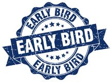 Early bird stamp. Early bird grunge stamp on white background Royalty Free Stock Images