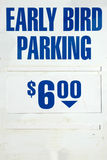 Early Bird Parking Sign Stock Photography