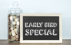 Free Early Bird Special - Target Your Customer Royalty Free Stock Photo - 152612115