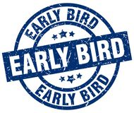 Early bird stamp. Early bird grunge stamp on white background Royalty Free Stock Photos