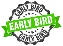 Early bird stamp Royalty Free Stock Image