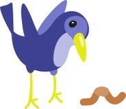 Early Bird & Worm Stock Photo
