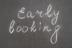 Early booking Stock Photos