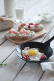 Early breakfast composition Stock Photography