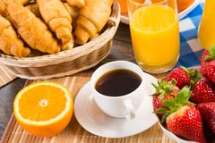 Early breakfast Stock Images
