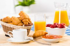 Early breakfast Royalty Free Stock Image
