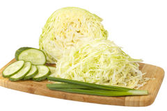 Early cabbage with cucumber salad Stock Images