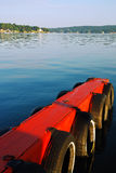 Early Calm. An Early Morning on Lake Hopatcong`s dock in , New Jersey Royalty Free Stock Photos