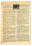 Early Canadian Newspaper. Royalty Free Stock Photography