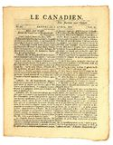 Early Canadian Newspaper. Stock Photos