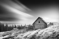 Early Carpathian morning. Monochrome colors Stock Photography