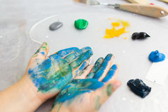 Early childhood education. Creative hobby Royalty Free Stock Images