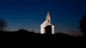 Early Christian church at night Stock Image