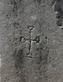 Early Christian Cross Carving Stock Photo