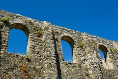 Early christianity wall ruins, Croatia Royalty Free Stock Images