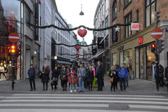 EARLY CHRISTMAS SHOPPERS Stock Image