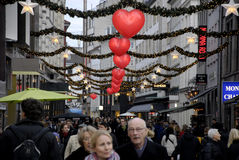 EARLY CHRISTMAS SHOPPERS Royalty Free Stock Image