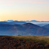 Early dawn in mountains. Stock Image
