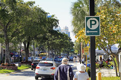 Early Day on Las Olas near SE 9th Ave Stock Photos