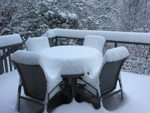 Early December Snow. Heavy snow in early December in Asheville, North Stock Photography