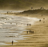 Early evening beach scene Royalty Free Stock Images
