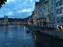 Early evening in Lucern. Late afternoon in Royalty Free Stock Photography