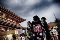 Early Evening Scene Senso-ji Temple Tokyo Stock Photo