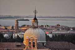 Early evening sky over Venice Dome. Italy, Europe Stock Images
