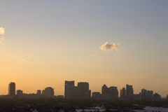 Early evening skyline view of fort lauderdale Royalty Free Stock Photos