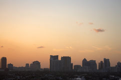 Early evening skyline view of fort lauderdale Royalty Free Stock Images