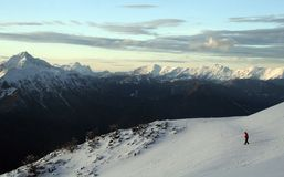 Early evening on the slopes royalty free stock images
