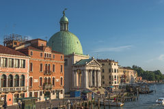 Early evening with sunset at amazing Venice, Italy, cityscape Royalty Free Stock Photo