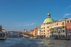 Early evening with sunset at amazing Venice, Italy, cityscape Royalty Free Stock Photography