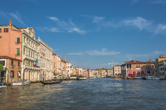 Early evening with sunset at amazing Venice, Italy, cityscape Royalty Free Stock Image