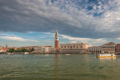 Early evening with sunset at amazing Venice, Italy, summer time Stock Photography