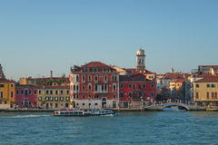 Early evening with sunset at amazing Venice, Italy, summer time Royalty Free Stock Image