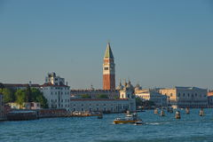 Early evening with sunset at amazing Venice, Italy, summer time Royalty Free Stock Photography