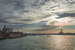 Early evening with sunset at amazing Venice, Italy, summer time Stock Images