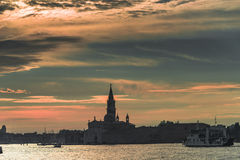 Early evening with sunset at amazing Venice, Italy, summer time Stock Image