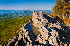 Early evening view of the Blue Ridge Mountains and Shenandoah Va Stock Photos