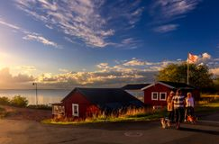 Early Evening Walk in Granna, Sweden - August 2016 royalty free stock images