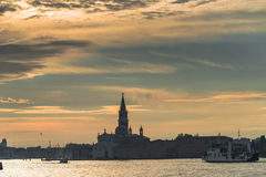 Early Evening With Sunset At Amazing Venice, Italy, Summer Time Stock Photo