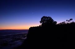 Early Evenings Colors Shoreline park. Santa Barbara California Stock Images