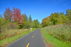 Early fall cycle path Royalty Free Stock Image