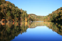 Early fall lake reflection Royalty Free Stock Images